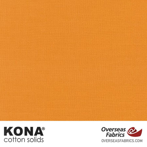 "Kona Cotton Solids Amber - 44"" wide - Robert Kaufman quilting fabric"