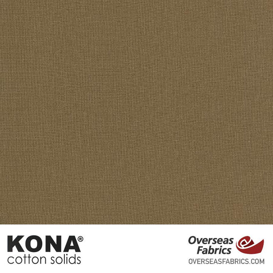 "Kona Cotton Solids Bison - 44"" wide - Robert Kaufman quilting fabric"