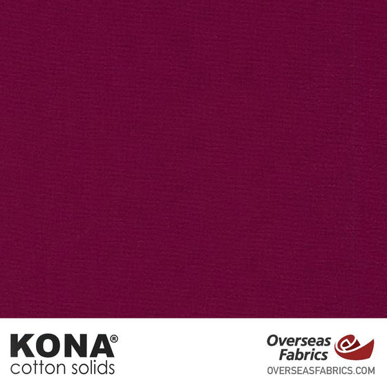 "Kona Cotton Solids Bordeaux - 44"" wide - Robert Kaufman quilting fabric"
