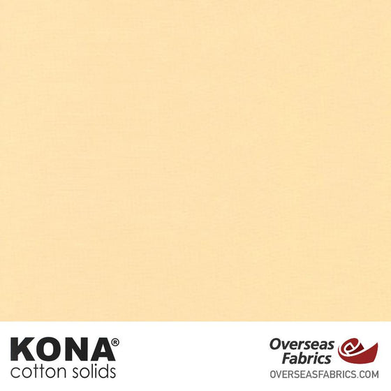 "Kona Cotton Solids Butter - 44"" wide - Robert Kaufman quilting fabric"