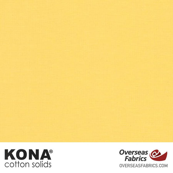 "Kona Cotton Solids Buttercup - 44"" wide - Robert Kaufman quilting fabric"