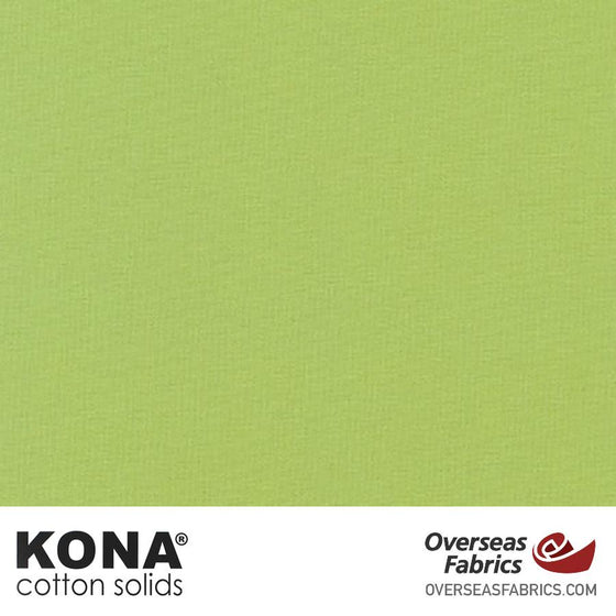 "Kona Cotton Solids Cabbage - 44"" wide - Robert Kaufman quilting fabric"