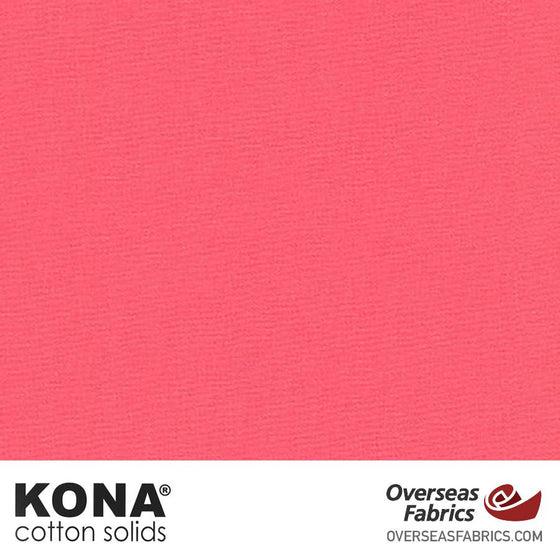 "Kona Cotton Solids Camellia - 44"" wide - Robert Kaufman quilting fabric"