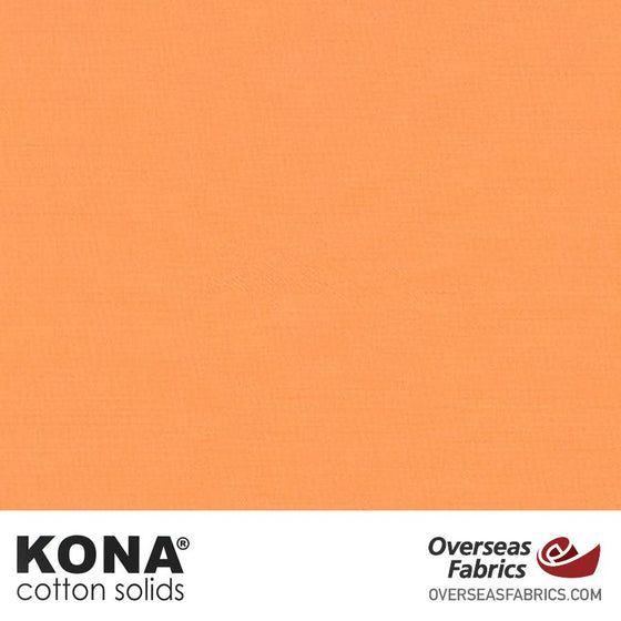 "Kona Cotton Solids Cantaloupe - 44"" wide - Robert Kaufman quilting fabric"