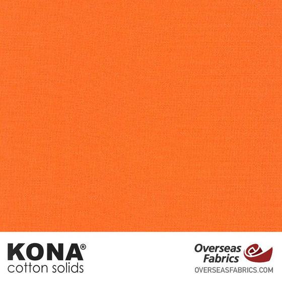 "Kona Cotton Solids Carrot - 44"" wide - Robert Kaufman quilting fabric"