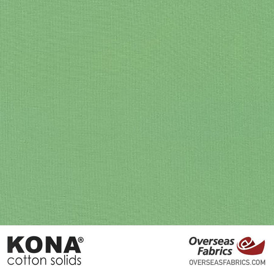 "Kona Cotton Solids Celadon - 44"" wide - Robert Kaufman quilting fabric"