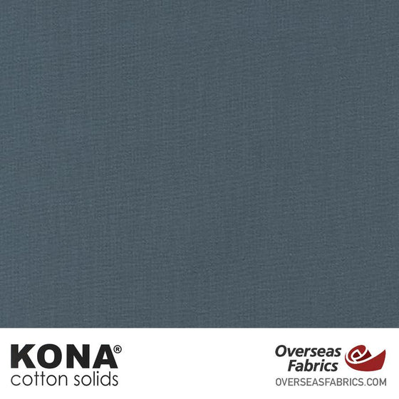 "Kona Cotton Solids Chalkboard - 44"" wide - Robert Kaufman quilting fabric"