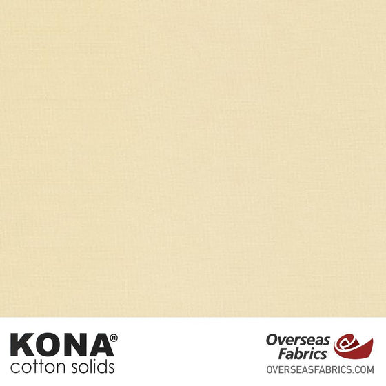 "Kona Cotton Solids Champagne - 44"" wide - Robert Kaufman quilting fabric"