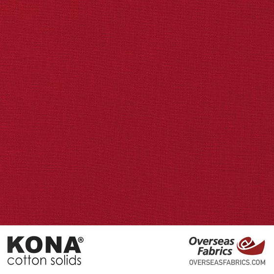 "Kona Cotton Solids Chinese Red - 44"" wide - Robert Kaufman quilting fabric"