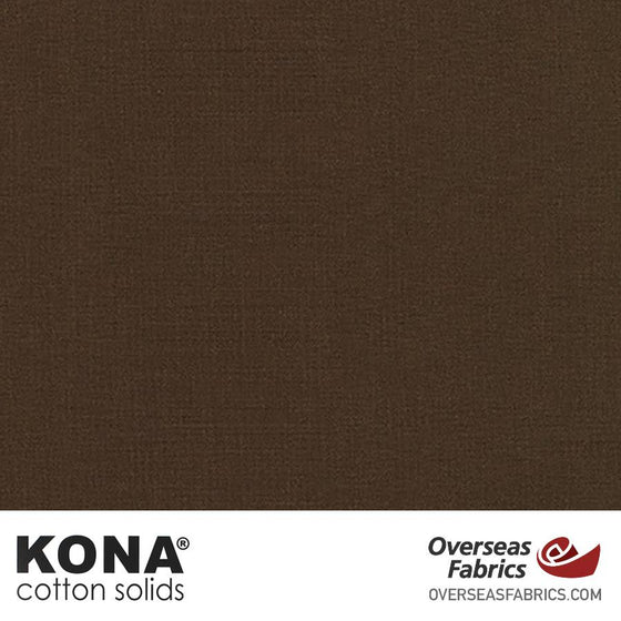 "Kona Cotton Solids Coffee - 44"" wide - Robert Kaufman quilting fabric"