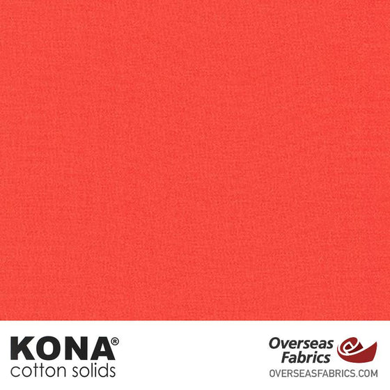 "Kona Cotton Solids Coral - 44"" wide - Robert Kaufman quilting fabric"
