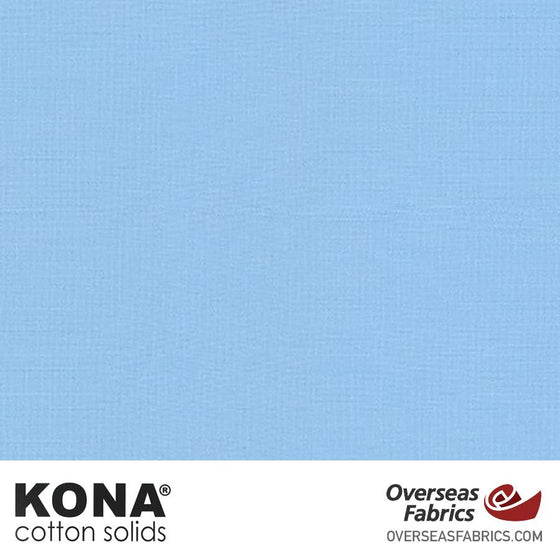 "Kona Cotton Solids Cornflower - 44"" wide - Robert Kaufman quilting fabric"