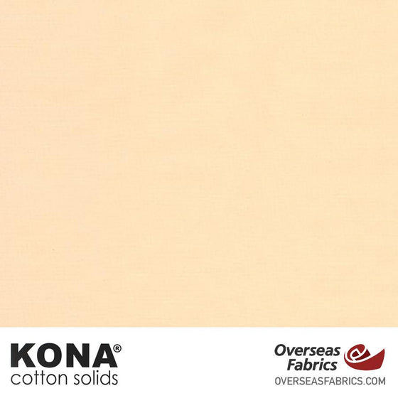 "Kona Cotton Solids Cream - 44"" wide - Robert Kaufman quilting fabric"