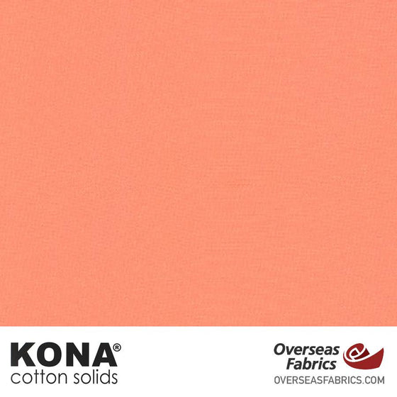 "Kona Cotton Solids Creamsicle - 44"" wide - Robert Kaufman quilting fabric"
