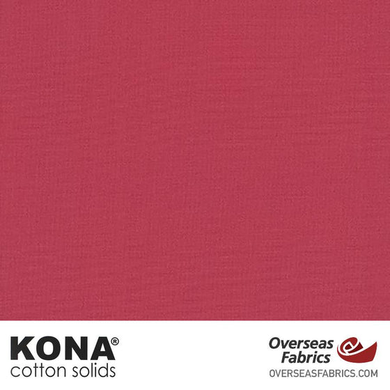 "Kona Cotton Solids Deep Rose - 44"" wide - Robert Kaufman quilting fabric"