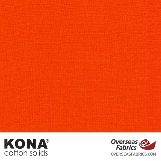 "Kona Cotton Solids Flame - 44"" wide - Robert Kaufman quilting fabric"