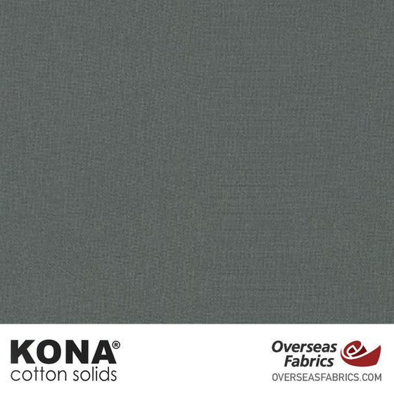 "Kona Cotton Solids Graphite - 44"" wide - Robert Kaufman quilting fabric"