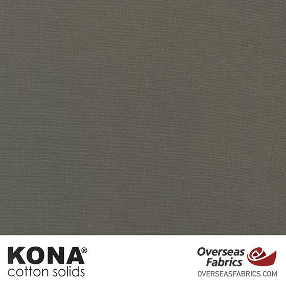 "Kona Cotton Solids Grizzly - 44"" wide - Robert Kaufman quilting fabric"