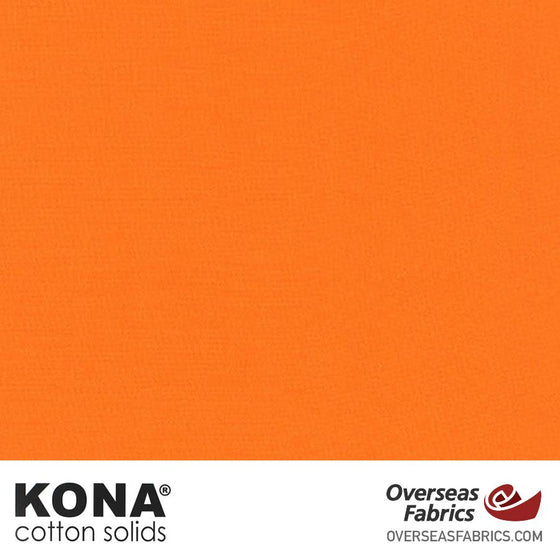 "Kona Cotton Solids Kumquat - 44"" wide - Robert Kaufman quilting fabric"