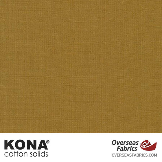 "Kona Cotton Solids Leather - 44"" wide - Robert Kaufman quilting fabric"