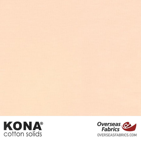 "Kona Cotton Solids Lt Parfait - 44"" wide - Robert Kaufman quilting fabric"