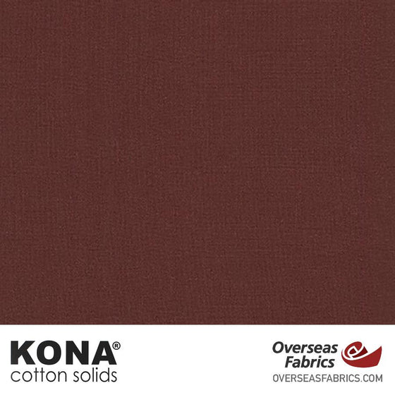 "Kona Cotton Solids Mahogany - 44"" wide - Robert Kaufman quilting fabric"
