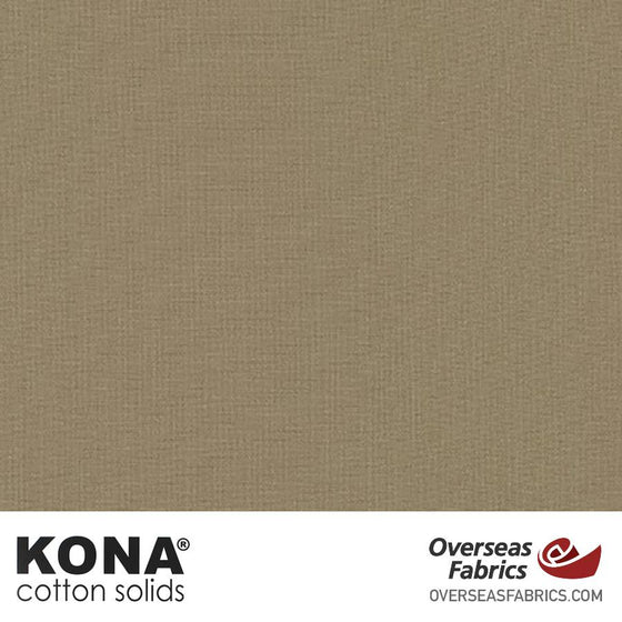 "Kona Cotton Solids Mushroom - 44"" wide - Robert Kaufman quilting fabric"