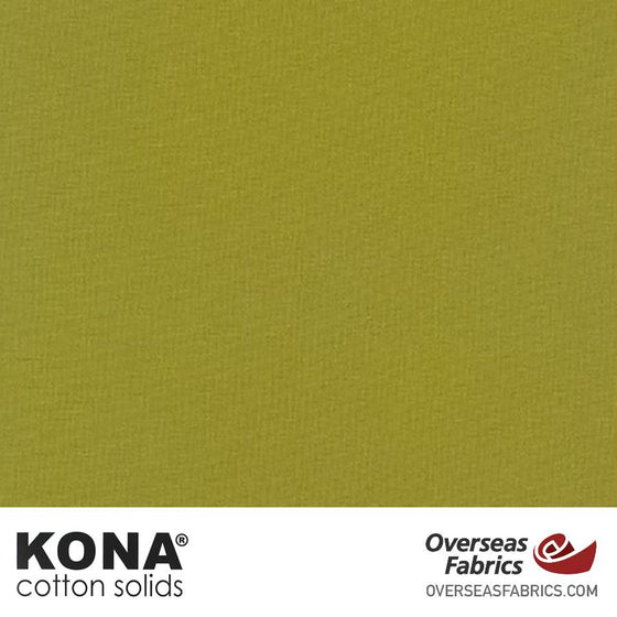 "Kona Cotton Solids Olive - 44"" wide - Robert Kaufman quilting fabric"
