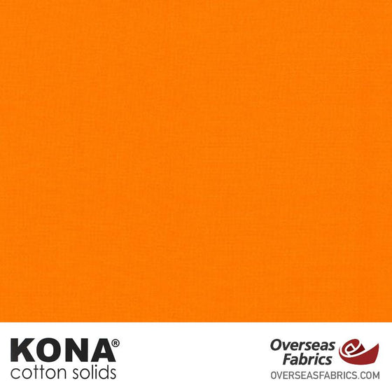 "Kona Cotton Solids Orange - 44"" wide - Robert Kaufman quilting fabric"