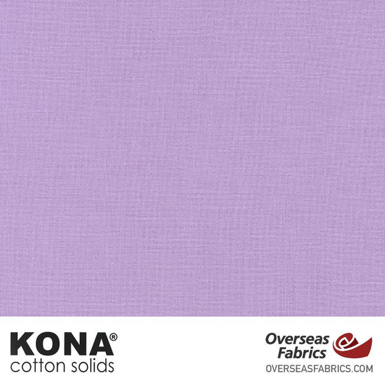 "Kona Cotton Solids Orchid Ice - 44"" wide - Robert Kaufman quilting fabric"