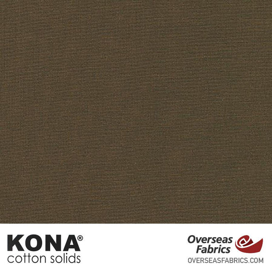 "Kona Cotton Solids Otter - 44"" wide - Robert Kaufman quilting fabric"