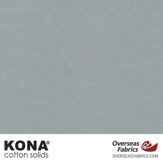 "Kona Cotton Solids Overcast - 44"" wide - Robert Kaufman quilting fabric"