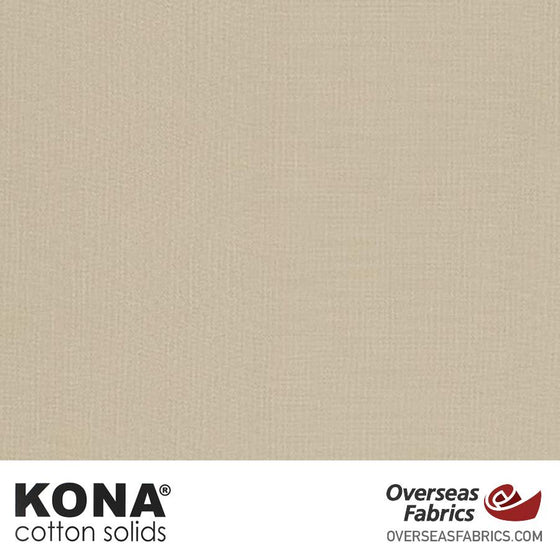 "Kona Cotton Solids Parchment - 44"" wide - Robert Kaufman quilting fabric"