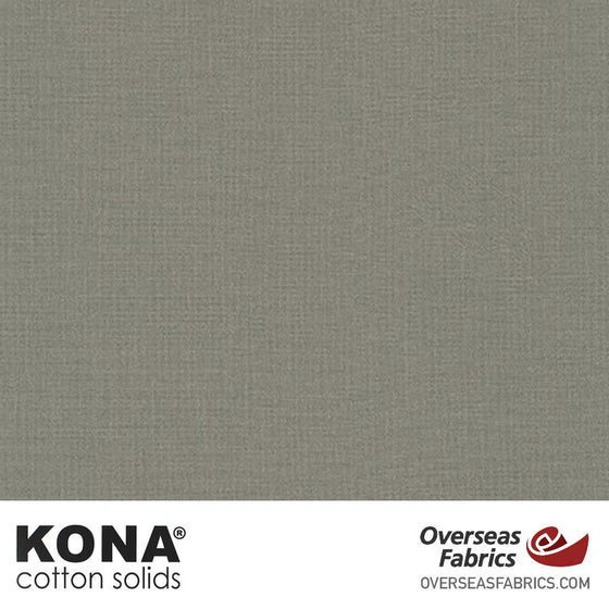 "Kona Cotton Solids Pewter - 44"" wide - Robert Kaufman quilting fabric"