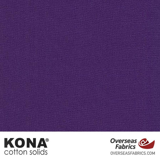 "Kona Cotton Solids Purple - 44"" wide - Robert Kaufman quilting fabric"