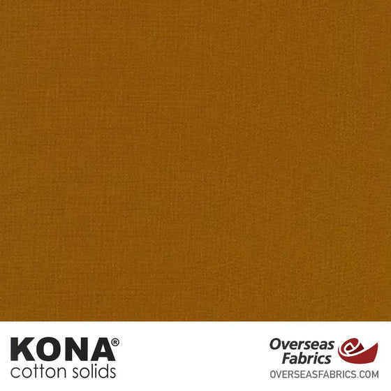"Kona Cotton Solids Roasted Pecan - 44"" wide - Robert Kaufman quilting fabric"