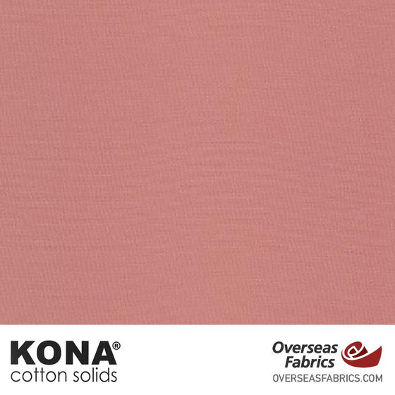 "Kona Cotton Solids Rose - 44"" wide - Robert Kaufman quilting fabric"