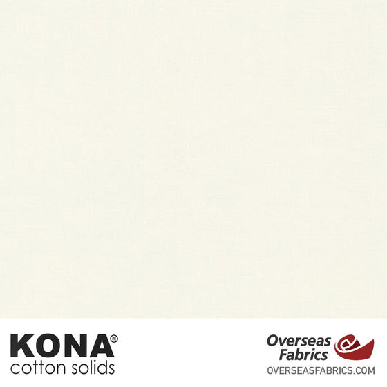 "Kona Cotton Solids Snow - 44"" wide - Robert Kaufman quilting fabric"