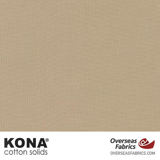 "Kona Cotton Solids Stone - 44"" wide - Robert Kaufman quilting fabric"