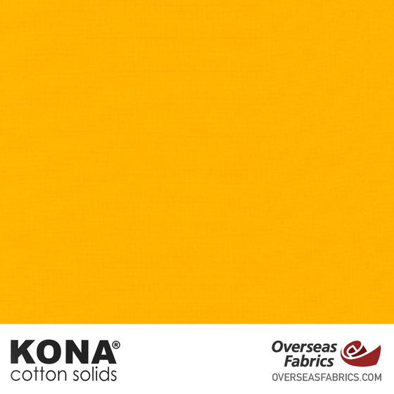"Kona Cotton Solids Sunny - 44"" wide - Robert Kaufman quilting fabric"