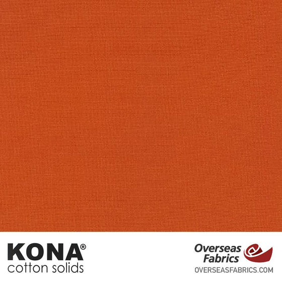 "Kona Cotton Solids Terracotta - 44"" wide - Robert Kaufman quilting fabric"