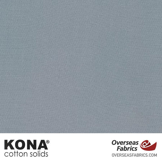 "Kona Cotton Solids Titanium - 44"" wide - Robert Kaufman quilting fabric"