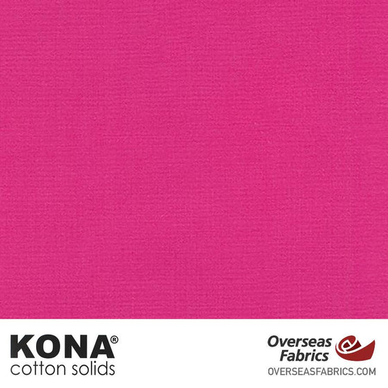 "Kona Cotton Solids Valentine - 44"" wide - Robert Kaufman quilting fabric"