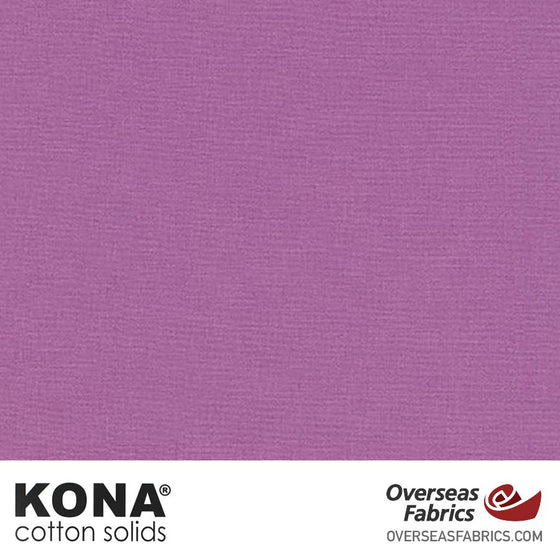 "Kona Cotton Solids Violet - 44"" wide - Robert Kaufman quilting fabric"