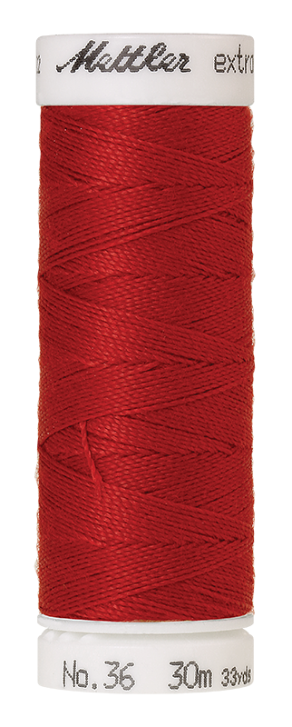 Mettler Extra Strong Polyester Thread, 30m - #0504 Country Red