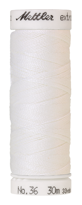 Mettler Extra Strong Polyester Thread, 30m - #2000 White