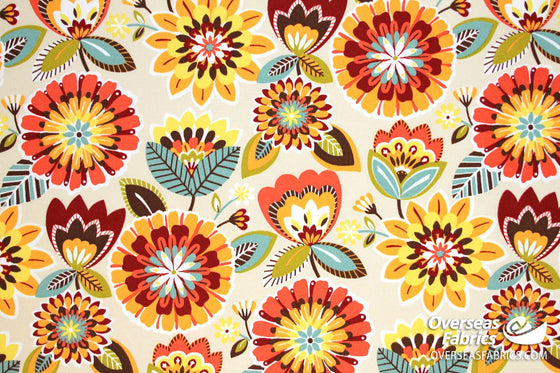 "Bryant Outdoor Fabric 54"" - Gazebo Floral, Jubilee"