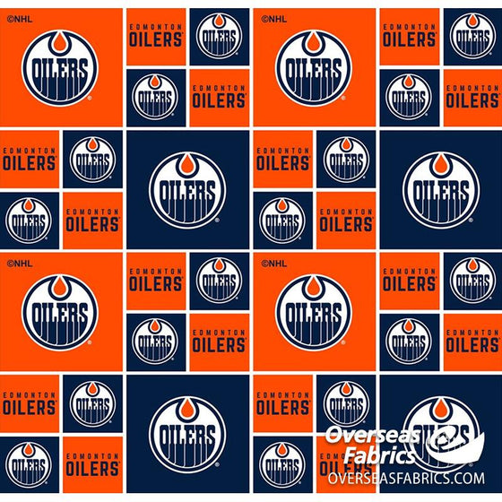 *PRE-ORDER August 2020* NHL Quilting Cotton - Edmonton Oilers