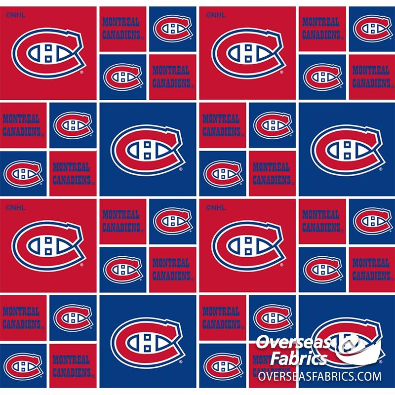**DELAYED** Pre-Order Aug 2020 NHL Quilting Cotton - Montreal Canadiens (See Description before ordering)