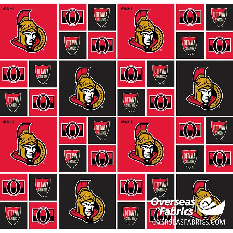 **DELAYED** Pre-Order Aug 2020 NHL Quilting Cotton - Ottawa Senators (See Description before ordering)